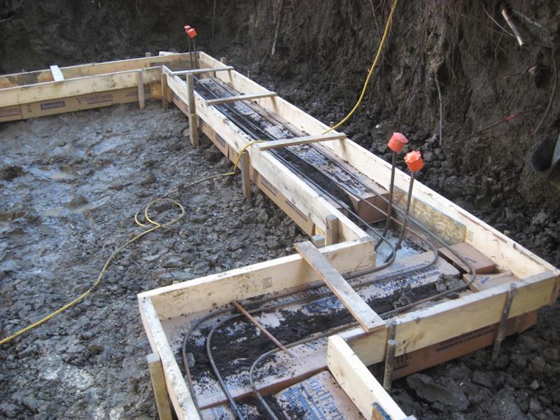 Construction of concrete form base