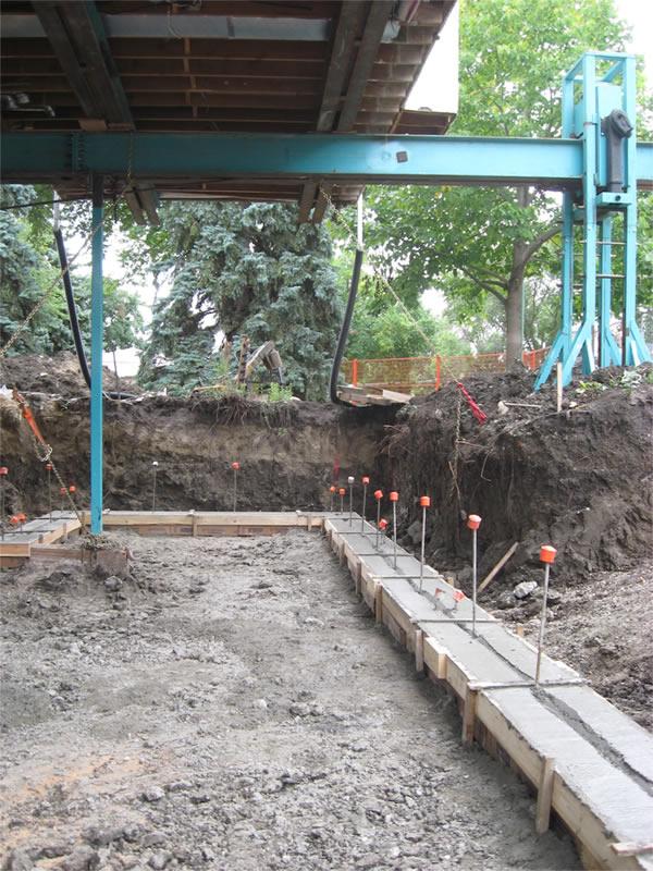 Finished concrete form base