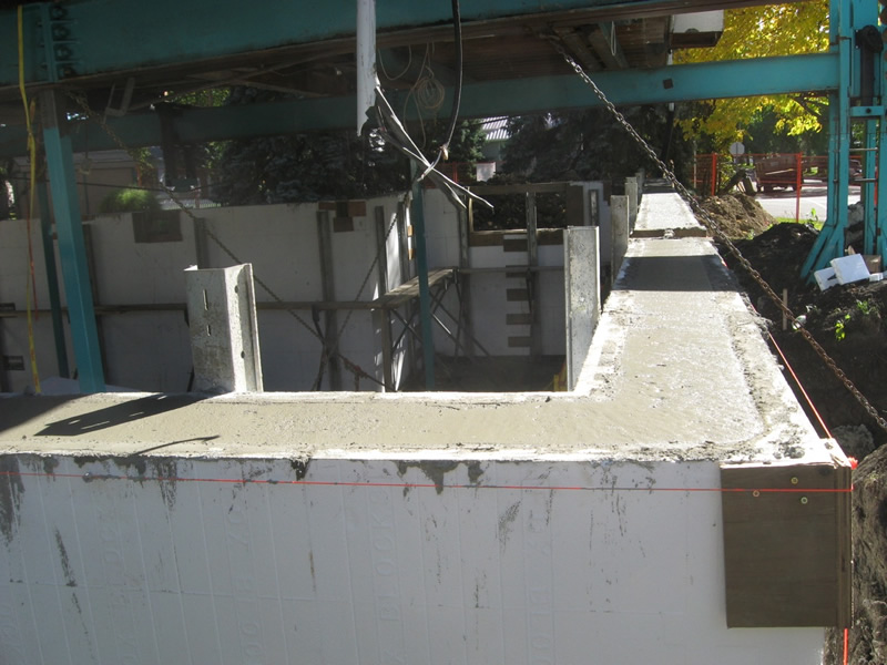 Finished Insulated Concrete Form (ICF) wall