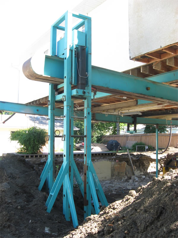 18 ft from the bottom of the excavation to the floor system of the house